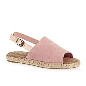 TOMS espadrille sandals size 7 NWT